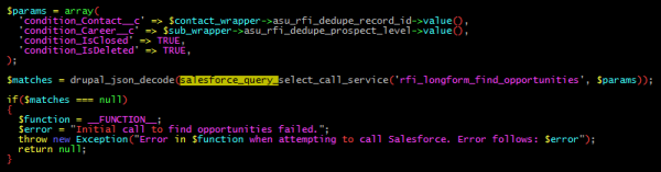 Calling a Select Query in code